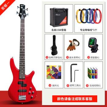 ベース四弦電気ベースギターベース初心者入門ベースギター演奏楽器【順豊】コース一:ベース+15 Wベーススピーカー