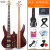 オリス(OLICE)電気ベース4弦5弦ベースセット初心者演奏専門のベース・ベース・ギター楽器はスピーカーB-2一体のエレクトリック・ベースになります。