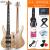 オリス(OLICE)電気ベース4弦5弦ベースセット初心者演奏専門のベース・ベース・ギター楽器はスピーカーB-2一体のエレクトリック・ベースに5弦プレゼントします。