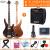 オリス(OLICE)電気ベース4弦5弦ベースセット初心者演奏専門のベース・ベース・ギター楽器はスピーカーB-1の3層木4弦のプレゼント用バッグ+10 w Bluetooth電気ベースのスピーカーに乗ることができます。