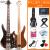 オリス(OLICE)電気ベース4弦5弦ベースセット初心者演奏専門のベース・ベース・ギター楽器はスピーカーB-2階の木一体電気ベース5弦でプレゼントします。