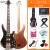 オリス(OLICE)電気ベース4弦5弦ベースセット初心者演奏専門のベース・ベース・ギター楽器はスピーカーB-1の3層木電ベース5弦でプレゼントします。