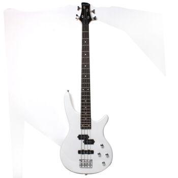 电贝司 bass電気ベース四弦五弦贝斯演奏初学入门学生 贝斯包 B-1白色4弦 送大礼包